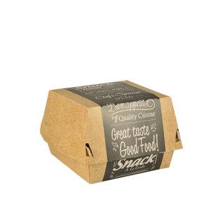 Kutija za hranu Hamburger sa praktičnim poklopcem od kartona