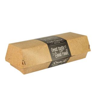 Kutija za hranu Baguette sa praktičnim poklopcem od kartona